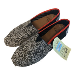 TOMS X Keith Haring Shoes Women's 11 Limited Edition Subway Art Figures Chalk